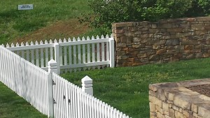 White Wood Picket Fence in Falls Church, VA