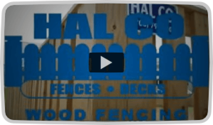 Hal Co Wood Privacy Fence Video