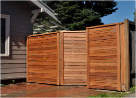 The Humble Wood Fence In Falls Church Va Contemporary