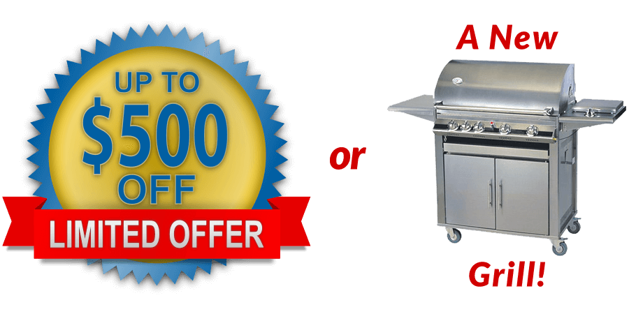 Save up to $500 off or get a new grill with Your Next Deck Project