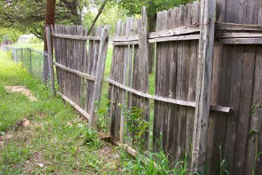 Wood Fence in Falls Church, VA Neglected and Untreated