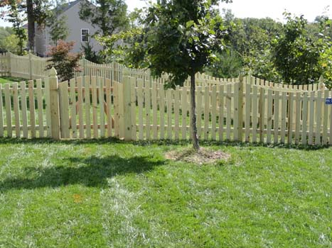 Wood Fence at Ashburn, VA Home