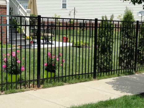 Leesburg Fence Company Installed Aluminum Fence